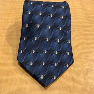 STAFFORD Blue and Beige Tie